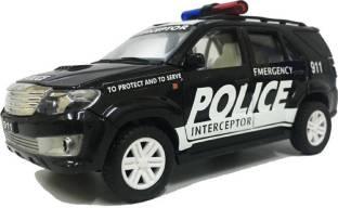 ar enterprises pull along police fortuner car for kids