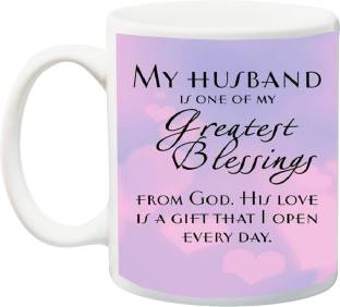 Stylotrendz My Husband Is Greatest Blessing From God Perfect Gift For Hubby Ceramic Mug