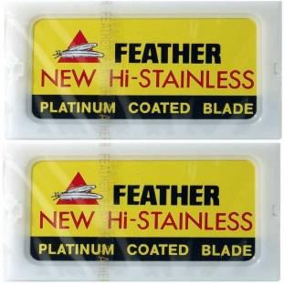 Feather New Hi Stainless Double Edge Safety Razor Blades