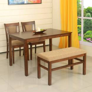 home by nilkamal jewel solid wood 4 seater dining set - Dining Table Four Chairs