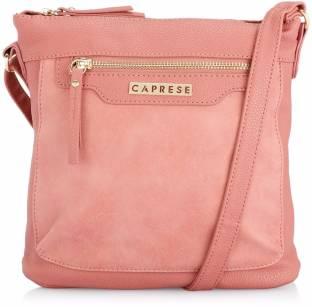 Caprese Women Pink Leatherette Sling Bag