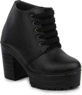 Online Shop - Casual Patent Leather And Lace-Up Design Short Womens Boots Online