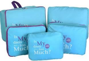 Styleys 5 pcs, 1 Set Bag Organizer Packing Cube Toiletry Bag (Blue)