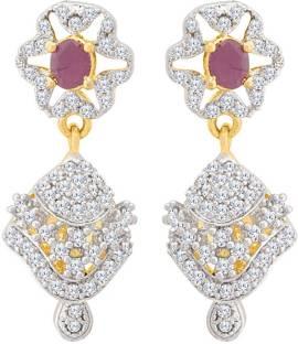 4c65aedd4 Flipkart.com - Buy Voylla Generic CZ Stunning Jhumka Earrings Cubic ...