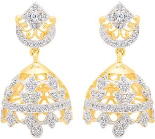 3b401405b Voylla Starry Night Jhumka Earrings Cubic Zirconia Brass Jhumki Earring