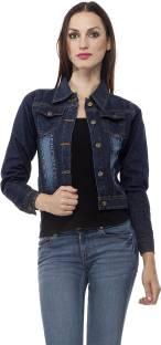 Clo Clu Full Sleeve Self Design Women's Denim Jacket
