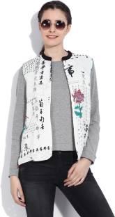 W Sleeveless Printed Women's Gilet Jacket