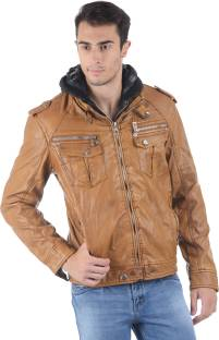 ASST Full Sleeve Solid Men's Pu Leather Jacket