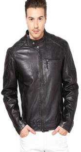 Aditi Wasan Full Sleeve Solid Men's Motorcycle Jacket