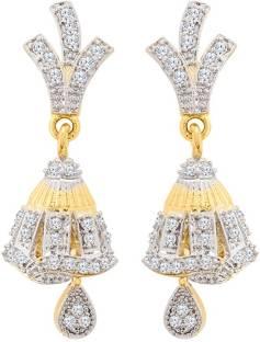 238b337cd Voylla Generic CZ Jhumka Style Earrings Cubic Zirconia Brass Jhumki Earring