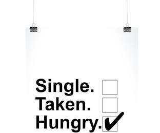single taken hungry wall poster photographic paper