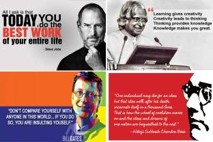Flipkart buy wall1ders posters online at best prices in india combo pack of famous quotes poster size 12 inch x 18 inch pack gumiabroncs Image collections