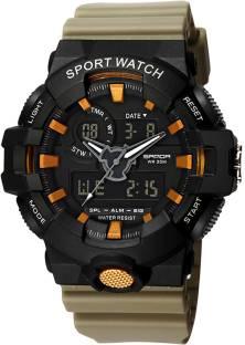 188c6048e5e4fd Sanda SD-799 Dual Display S-Shock Analog Digital Led Display Watch Watch -