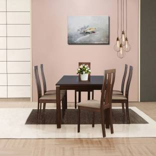 HomeTown Delton Glass 6 Seater Dining Set