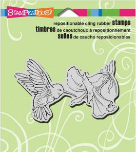 STAMPENDOUS Angel Blessing Cling Rubber Stamp