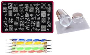 Nail arts kit buy nail arts tools online flipkart lifestyle you combined deal of large nail art stamping image plate silicon stamper prinsesfo Images