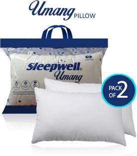 Sleepwell Microfibre Simple Bed/Sleeping Pillow Pack of 2