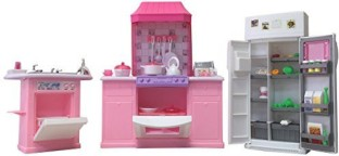 GLORIA DOLLHOUSE FURNITURE SIZE KITCHEN With Oven /& Cabinet PLAYSET FOR Dolls