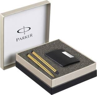 PARKER vector gold with card holder Gift Sets Roller Ball Pen