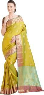 87f91005f53985 Buy Viva N Diva Woven Kanjivaram Banarasi Silk Green Sarees Online ...