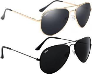 f6b317802e Buy Shopping Bebo Aviator Sunglasses Black For Men   Women Online ...