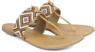 Bata Women Tan Flats