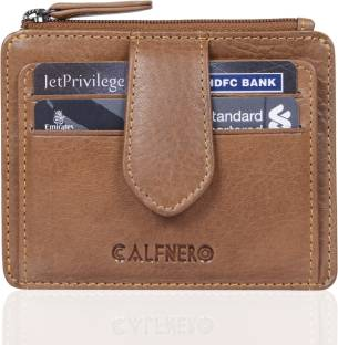 Calfnero Men Brown Genuine Leather Card Holder