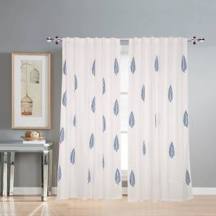 Linenwalas Cotton Window Curtain 152 Cm 4 Ft Pack Of 2