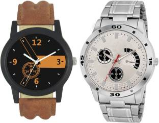 df7431cd194 Codice Mens watches combo of 2 Boss120 Leather Strap Low Price Watch - For  Men