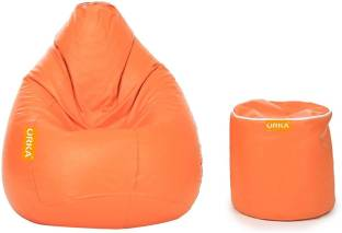 ORKA XXL Classic With Stylish Footstool Bean Bag Filling