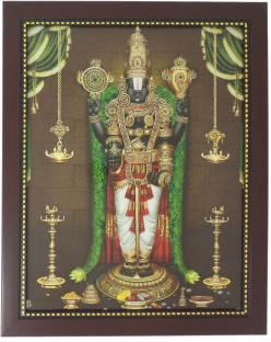 R S Exports Lord Balaji And Ashta Lakshmi Photo Frame 34 Cm X 34
