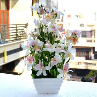 Reiki Crystal Products Green U0026 White Artificial Bonsai Tree Bonsai  Artificial Plant With Pot