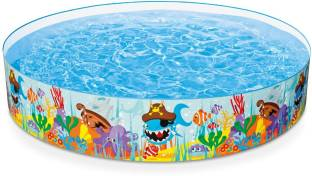 Intex Soft Inflatable Rectangular Baby Pool Big Bath Water Tub For ...
