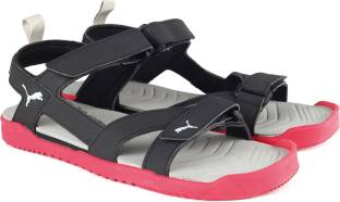 5a15504b1c5d2e Puma Men Black-Toreador-Silver Sports Sandals - Buy Puma Black ...