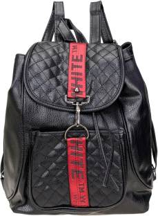 6d71515fd1 AVMART Fashionable Leather look Black Formal Casual Backpack19 15 L Backpack
