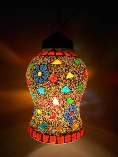 Ceiling lights buy ceiling lights or hanging lights online at susajjit decorative aesthetic design roofceiling lamp with mosaic work colrful hanging lantern for home decoration chandelier mozeypictures Images