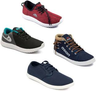 Asian Asian men's casual shoes with sports shoes combo pack of 4 Casuals  For Men