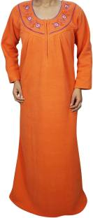 4d4dc81833 Ahaana Fashion Women s Nighty with Robe - Buy Orange Ahaana Fashion ...