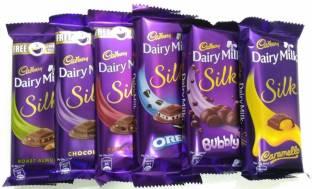 Cadbury celebrations rich dry fruit gift pack 264gm chocolate bars cadbury dairy milk silk pack of 6 combo335gms bars thecheapjerseys Choice Image