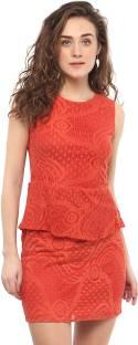 Mayra Women's Shift Orange Dress