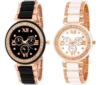 7669fac0b9ce Swan CERAMIC BLACK   WHITE T 04 CERAMIC ROSE GOLD DIMOND COMBO FOR MEN    WOMAN
