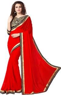 onlinefayda Embroidered Daily Wear Chiffon Saree