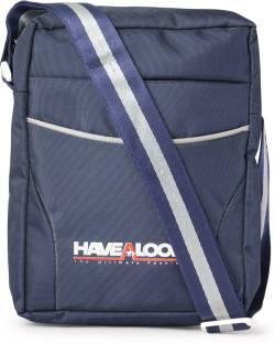 ef0d677bc47a HAVEALOOK Men   Women Formal Blue Nylon Sling Bag