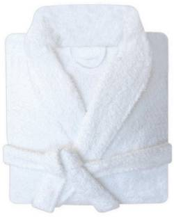 8f1f65b5b6 Linenwalas Silver Grey   White Medium Bath Robe - Buy Linenwalas ...