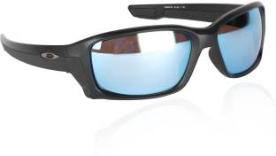 14a4c99144 Buy Oakley Wrap-around Sunglass Blue For Men Online @ Best Prices in ...