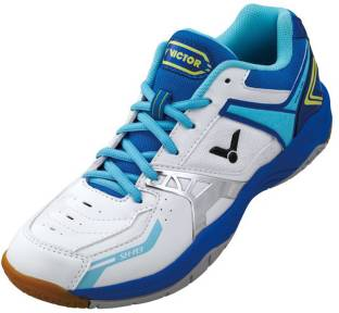 5a4b6faeb Thrax All Court Badminton Shoes For Men - Buy White Blue Color Thrax ...