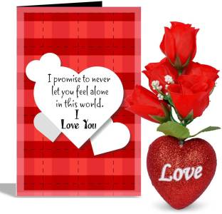 Siddhi gifts im sorry gifts for husband greeting card gift set alwaysgift i love you valentines day greeting card with 5 roses heart greeting card gift set m4hsunfo