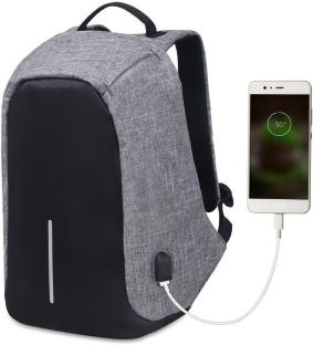 Anti-theft Backpack With USB Charging Port School Travel Laptop Bookbag Luminous