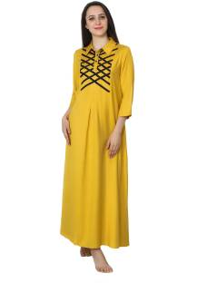 ab8a79dbfd Patrorna Women Nighty - Buy Patrorna Women Nighty Online at Best ...