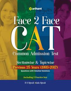 Face to Face Cat Common Admission Test Sectionwise & Topicwise Previous 25 Years'